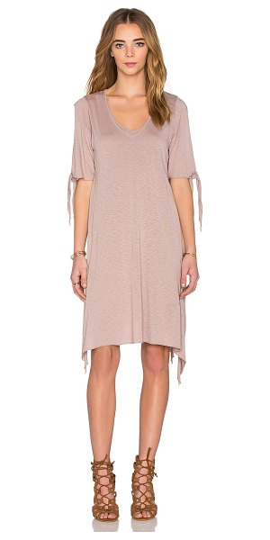 LAmade Cecilia dress in beige - 50% cotton 50% modal. Hand wash cold. Fully lined....
