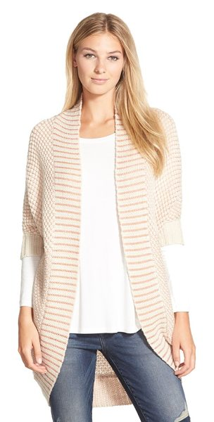 LAmade crystal cocoon cardigan in cream/ rosa - Envelop yourself the coziness of a slouchy cardigan...