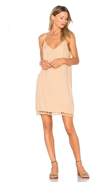 LAmade Dayton Dress in beige - 100% rayon. Hand wash cold. Unlined. Adjustable shoulder...