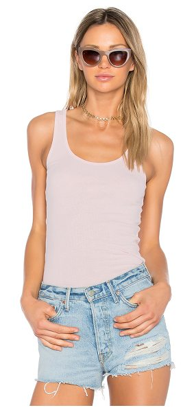 LAMADE Double U Tank - 50% cotton 50% modal. Hand wash cold. Rib knit fabric....
