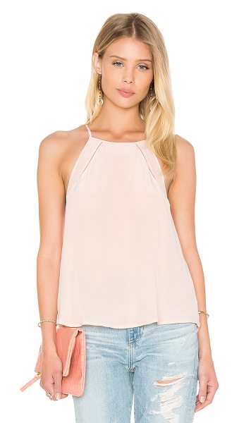 LAmade Lexy Fly Away Cami in pink - 100% silk. Dry clean only. Eyelet trim detail....