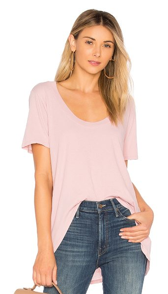 LAMADE Luna Tee in pink - 100% cotton. Hand wash cold. Slub knit fabric....