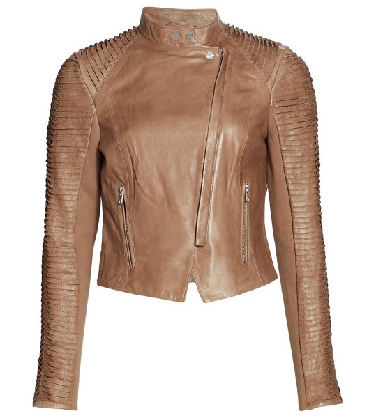 LaMarque azra leather jacket in camel