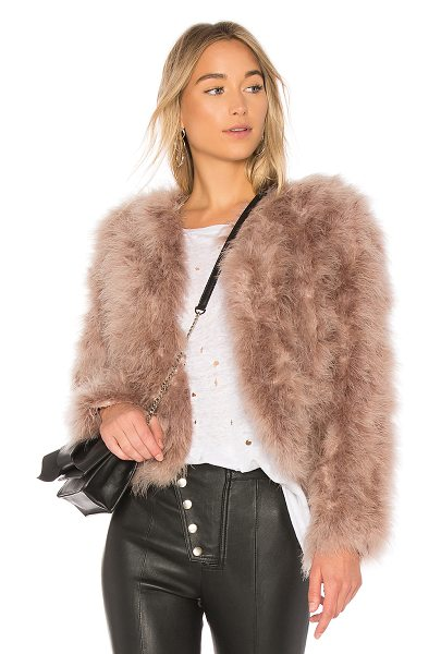 LaMarque Deora Coat in pink - Self: 100% turkey feathersLining: 100% poly. Dry clean...