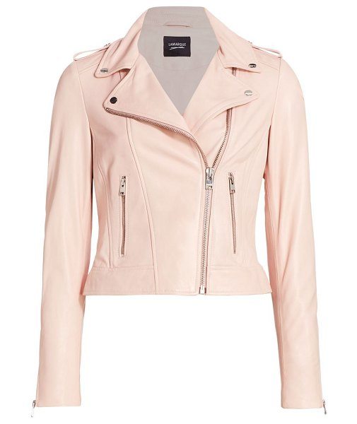 LaMarque donna leather jacket in ballet pink