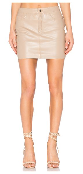 LAMARQUE Farrah Skirt in tan - Self: 100% leatherLining: 97% poly 3% spandex....