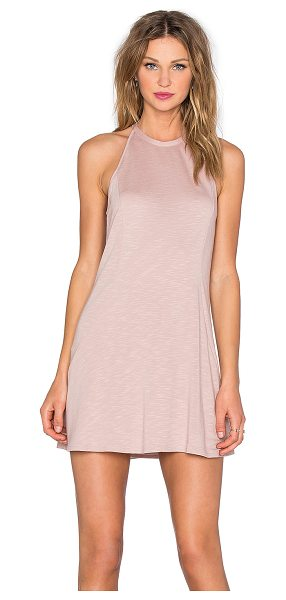 Lanston Dropwaist Dress in blush - 65% siro rayon 35% poly. Hand wash cold. Unlined. Back...