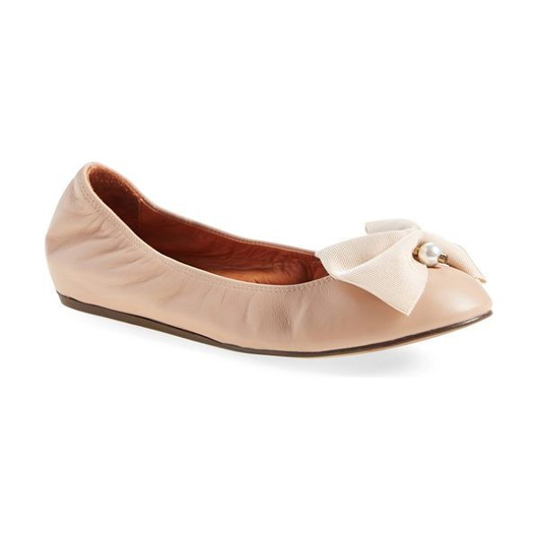 LANVIN bow ballerina leather flat - Already feminine and elegant, Lanvin's classic,...