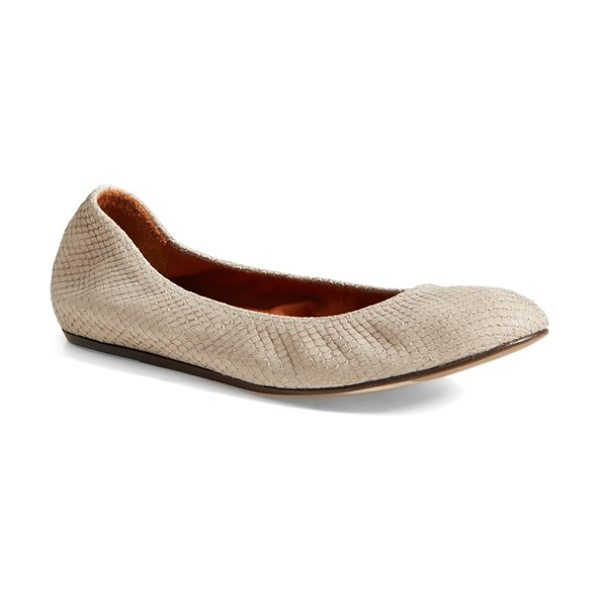 LANVIN calfskin leather ballerina flat - Snake-stamped texture puts a subtle spin on Lanvin's...