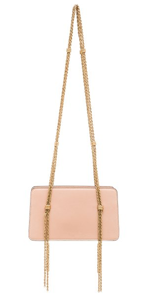 LANVIN Chain strap calfskin bag - Calfskin leather with signature jacquard fabric lining...
