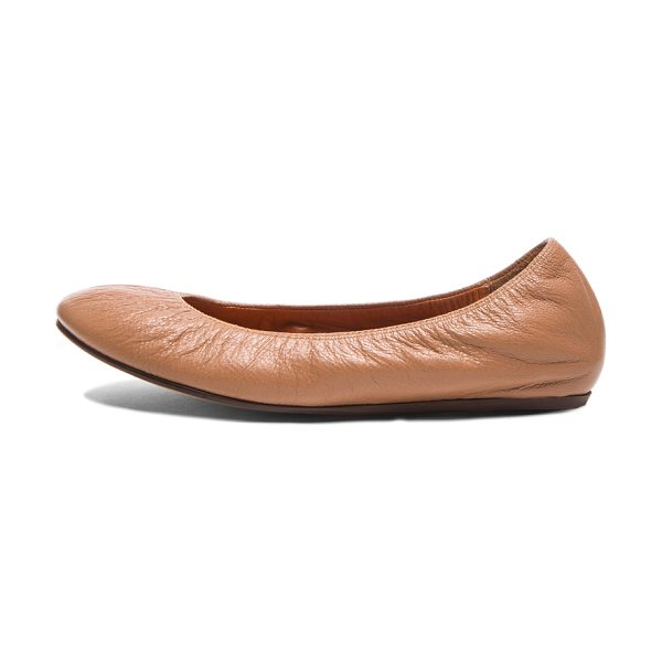 LANVIN Classic goatskin ballerina flats in neutrals - Goatskin leather upper and sole.  Made in Portugal. ...