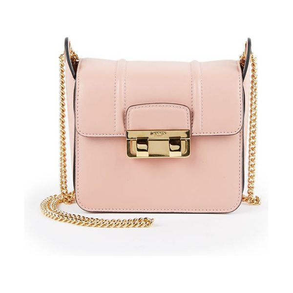 Lanvin Jiji mini leather chain shoulder bag in dustyrose