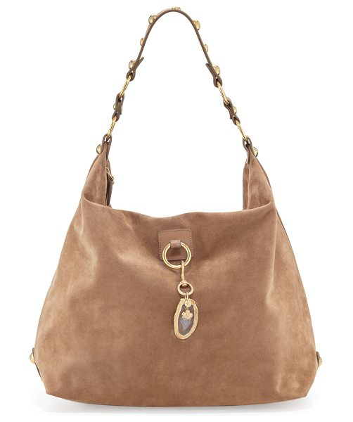 Lanvin Large nubuck hobo bag in 09dkbeige