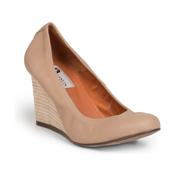 LANVIN Leather wedge pumps - Elevated by a sleek wedge heel, these timeless leather...