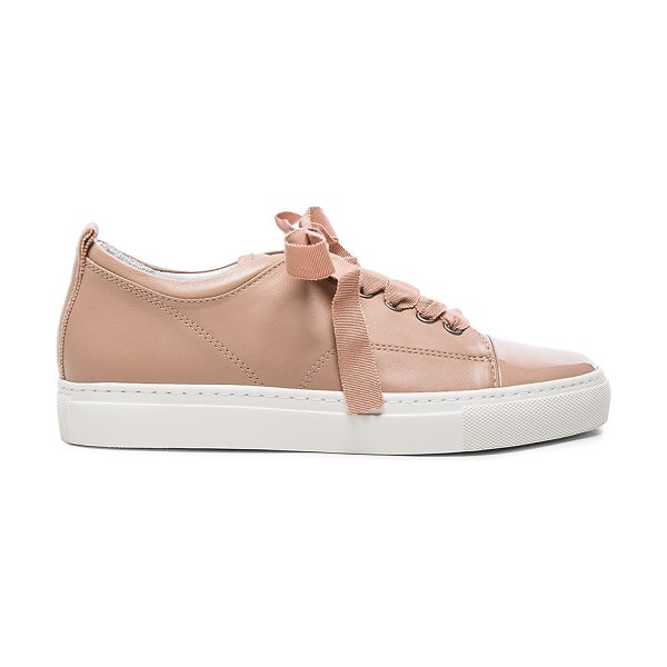 Lanvin Low Top Sneakers in pink,neutrals - Calfskin leather upper and rubber sole.  Made in...