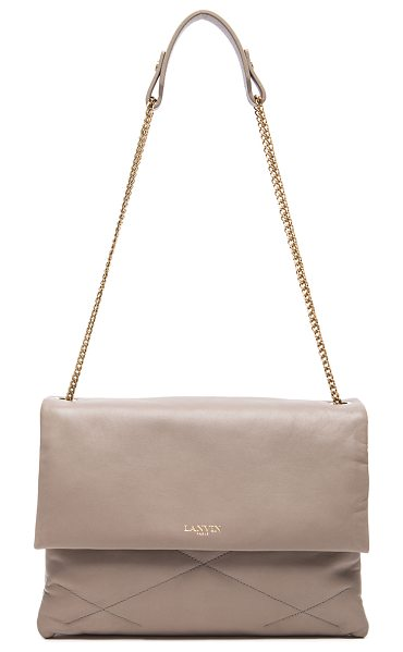 Lanvin Medium Lambskin Chain Bag in gray - Quilted lambskin leather with grosgrain lining and...