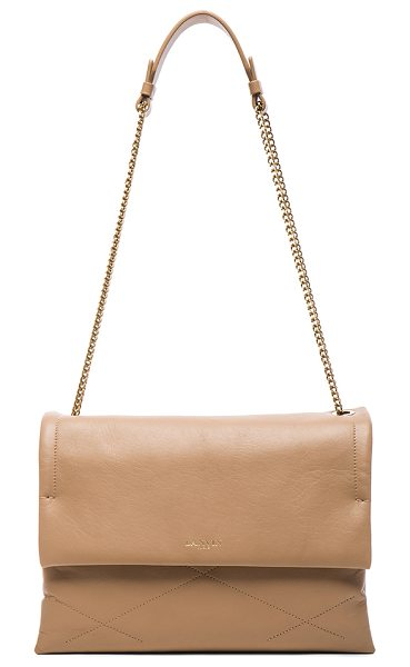 LANVIN Medium Sugar Bag in neutrals - Quilted lambskin leather with grosgrain lining and...