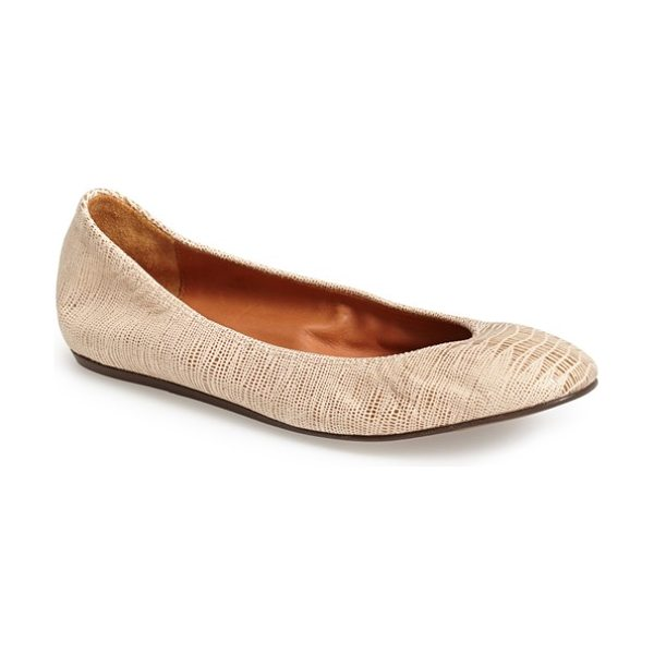 Lanvin metallic leather ballerina slipper in gold - An effortless ballerina flat takes a stroll in...