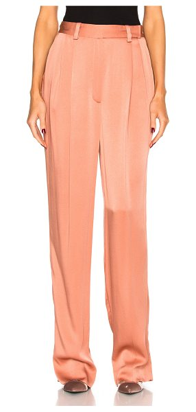 Lanvin Wide Leg Trousers in blush - Self: 58% viscose 42% acetateLining: 100% silk. Made in...