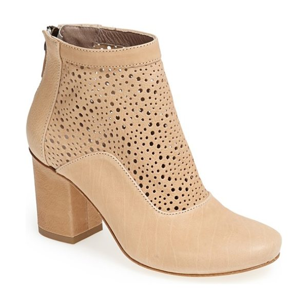 Latitude Femme sahara cutout shaft leather boot in sahara - Mixed-scale perforations put a warm-weather spin on an...