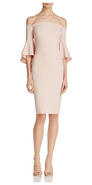 Laundry by Shelli Segal Laundry by Shelli Segal Off-the-Shoulder Dress in blush - Laundry by Shelli Segal Off-the-Shoulder Dress-Women