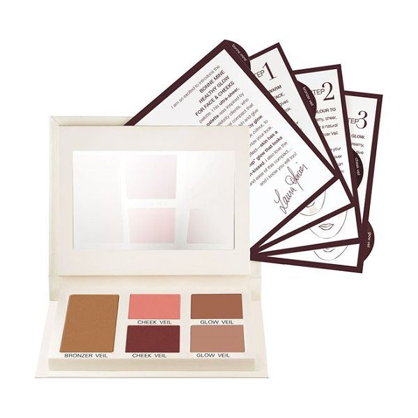 Laura Mercier Bonne mine healthy glow face & cheeks color palette in bonne mine - The ultra-sheer, blendable palette was inspired by...