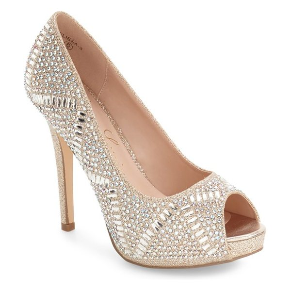 Lauren Lorraine elissa in nude - A tall stiletto heel and an array of sparkling crystals...