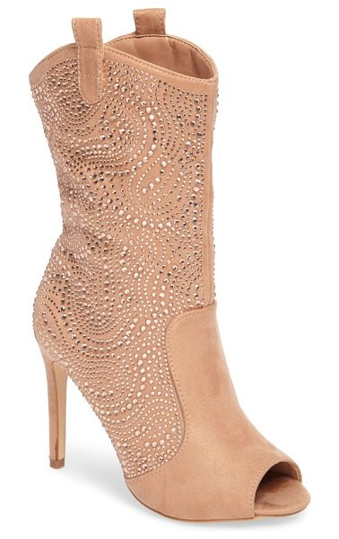 Lauren Lorraine layla embellished boot in pink - Small crystals sparkle and shine with every step you...