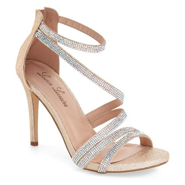 Lauren Lorraine michelle sandal in nude - Sparkling crystals embellish the slender straps of a...