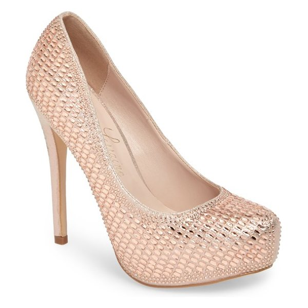 Lauren Lorraine vanna 5 platform pump in rose gold - All eyes will be on you as you take center stage in this...