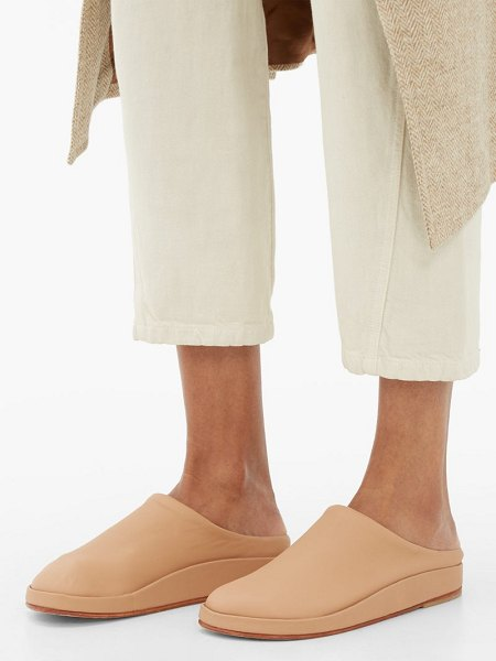 Lauren Manoogian contour backless leather flats in nude