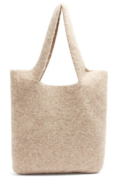 Lauren Manoogian oval cotton-blend tote in beige