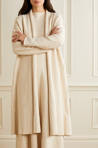 Lauren Manoogian uzbek pima cotton-blend cardigan in cream