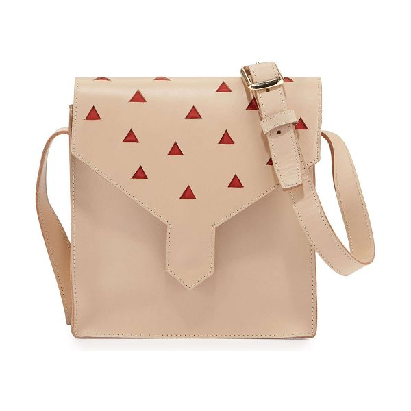 Lauren Merkin Margot leather cutout shoulder bag in natural - Lauren Merkin smooth calfskin leather shoulder bag....