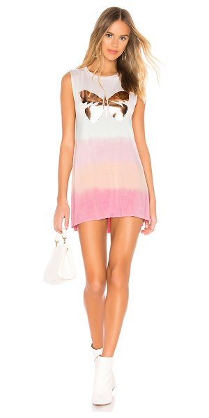 Lauren Moshi Deanna Tank Dress in pink - 94% rayon 6% spandex. Hand wash cold. Unlined. Front...