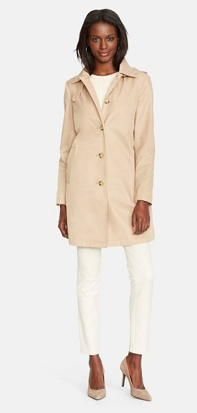 LAUREN RALPH LAUREN raincoat with detachable hood - A single-breasted raincoat in a simple and timeless look...