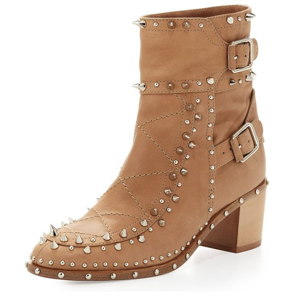 Laurence Dacade Badely double-buckle boot in beige/silver