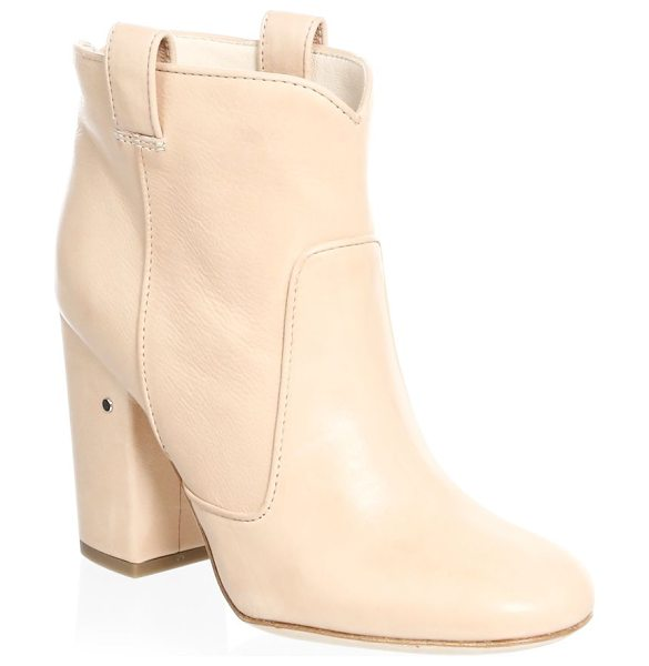 Laurence Dacade pete slip-on booties in nude - Sleek and elegant booties with a smooth finish Block...