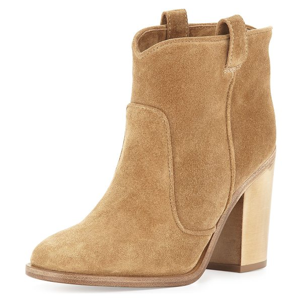 "Laurence Dacade Pete suede ankle boot in beige - Laurence Dacade suede ankle boot. 4. 3"" block heel...."