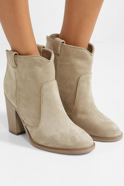 Laurence Dacade pete suede ankle boots in beige - Laurence Dacade often posts behind-the-scenes snapshots...