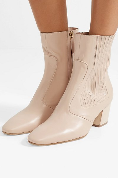 Laurence Dacade ringo leather ankle boots in beige - EXCLUSIVE AT NET-A-PORTER.COM. Since launching her...