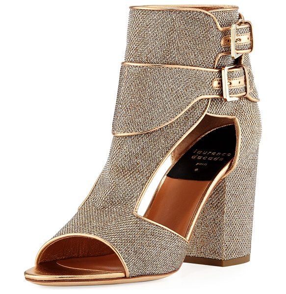 Laurence Dacade Rush Metallic Sequined Sandal in gold
