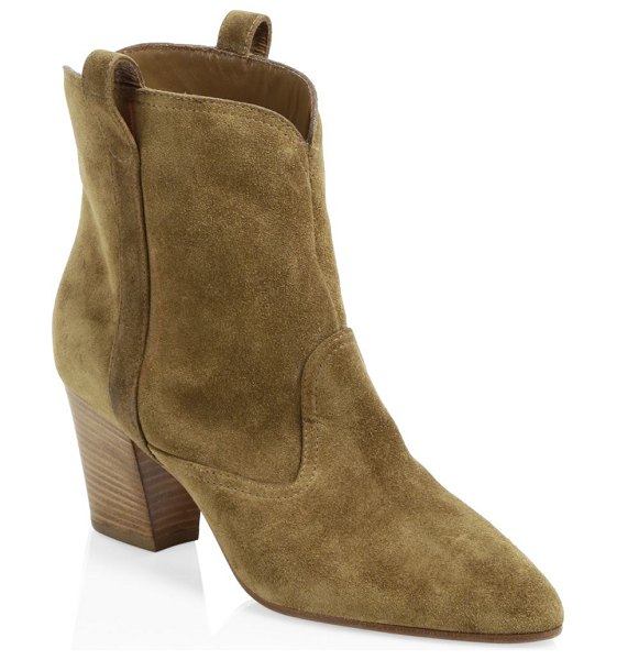 Laurence Dacade sheryll western velvet ankle boots in camel