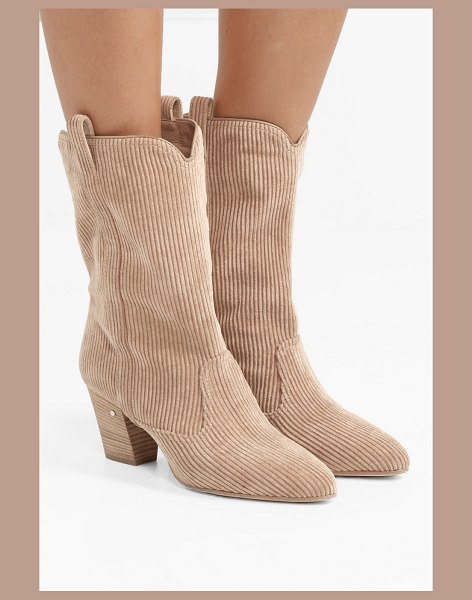 Laurence Dacade simona corduroy ankle boots in beige - Laurence Dacade is a busy woman - when she's not working...
