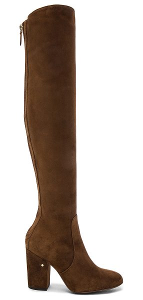 Laurence Dacade Suede Illusion Boots in cognac - Suede upper with leather sole. Made in Italy. Shaft...