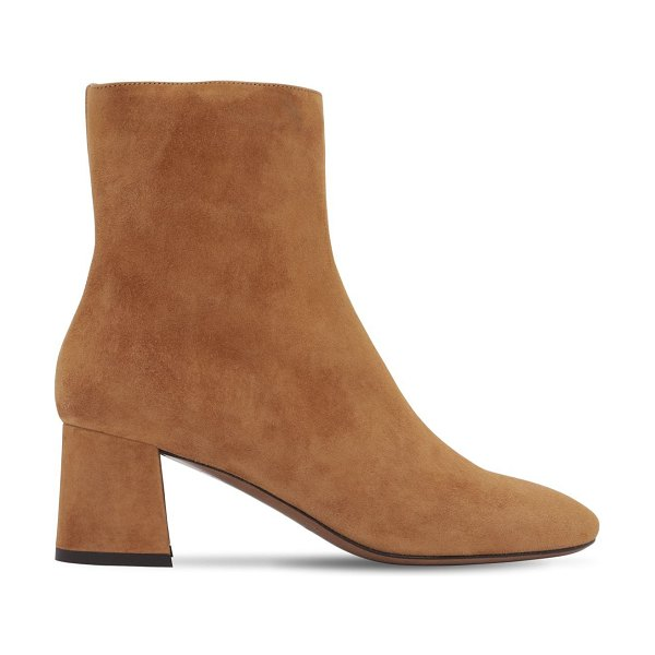 L'Autre Chose 60mm suede ankle boots in brown
