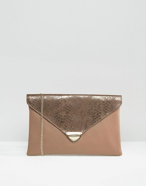 LAVAND Envelop Clutch Bag in brown - Cart by Lavand, Faux-leather outer, Fully lined,...