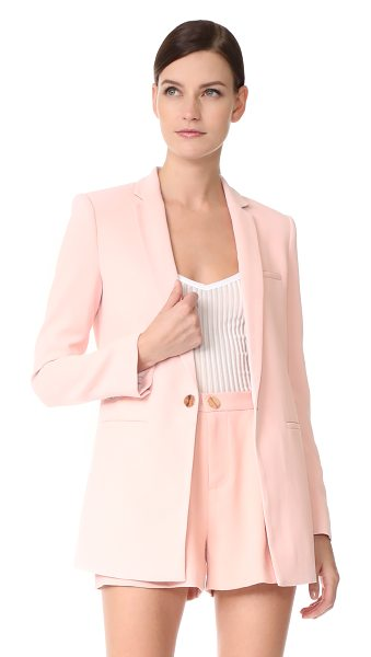 Laveer boyfriend blazer in blush - A polished LAVEER blazer with a relaxed silhouette....