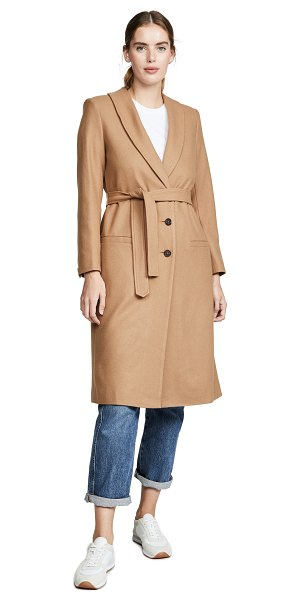 Laveer wrap coat in camel