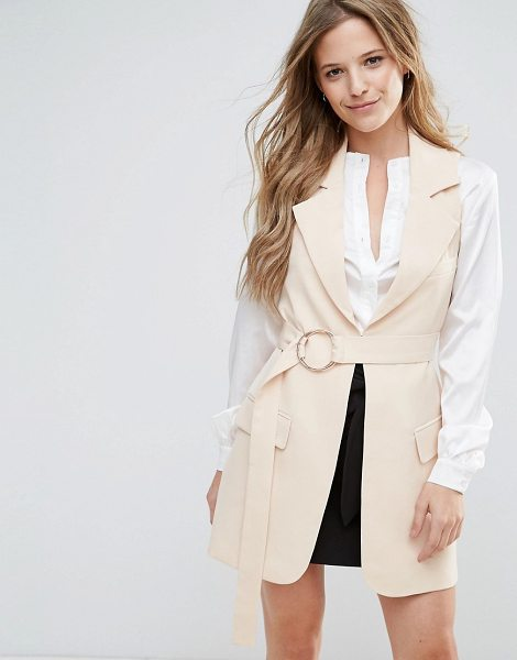 Lavish Alice Belted Trench Coat in beige